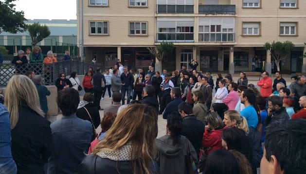 Imagen de la asamblea celebrada el mes pasado en Beriáin.