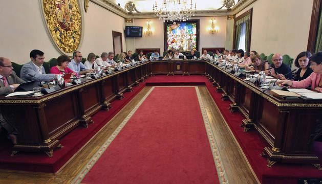 Nueva imagen del pleno municipal.