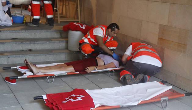 Una de las atenciones de Cruz Roja.