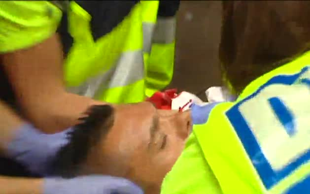 Accidentado primer encierro de San Fermín 2015