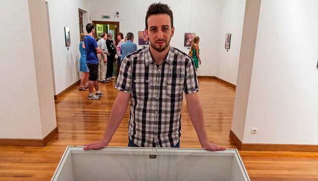 Diego Escribano Ott, en una muestra que realizó hace dos años.