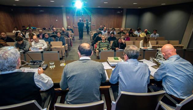 Una asamblea de Mancomunidad de Montejurra, la pasada legislatura.