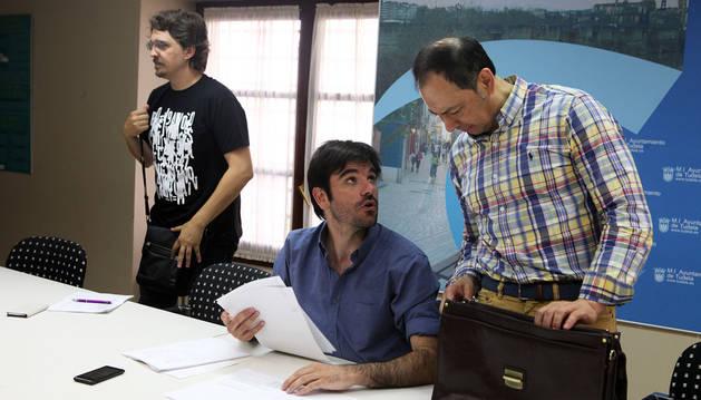 Daniel López Córdoba, Eneko Larrarte y José Ángel Andrés.
