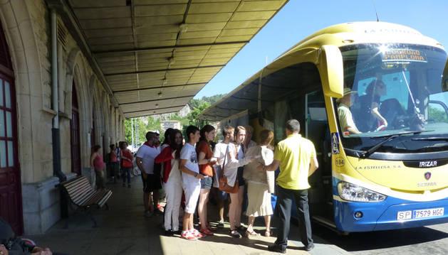 Estación de autobuses de Estella.