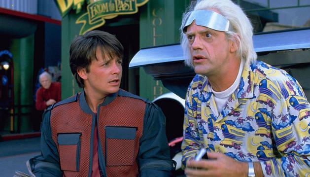 Marty McFly y Doc, en Regreso al futuro II.