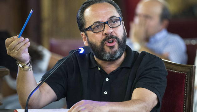 Álvaro Pérez 'El Bigotes', durante su declaración.