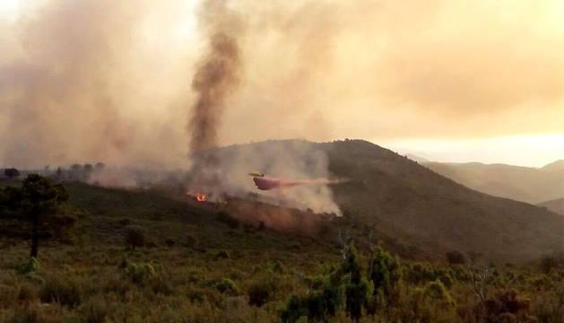 Incendio de Montán (Castellón).