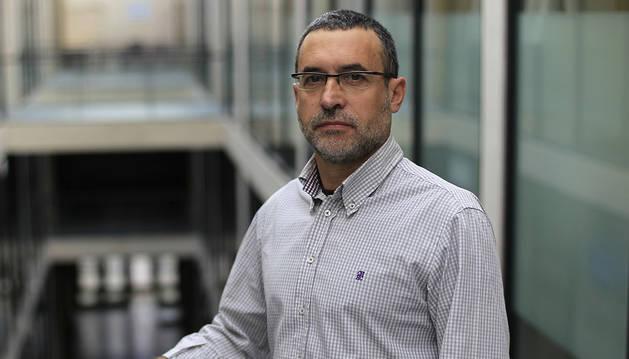 Miguel Laparra, en la UPNA.