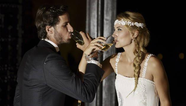 El tenista Feliciano López y la modelo Alba Carrillo, en su boda.