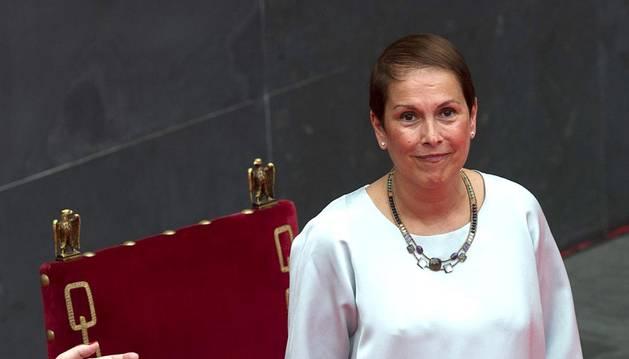 Imágenes del acto de toma de posesión de Uxue Barkos como presidenta del Gobierno de Navarra