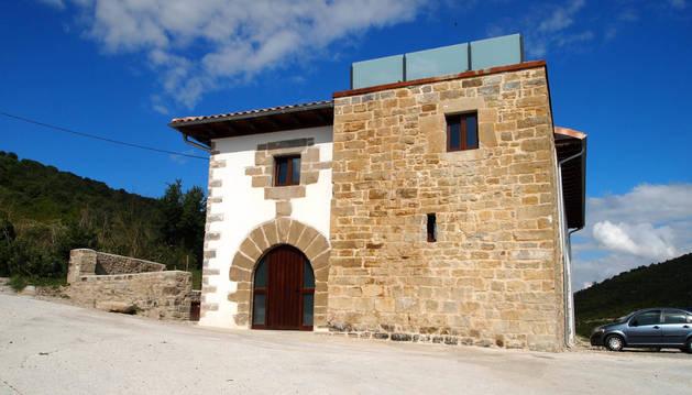 Una casa rural situada en Navarra.