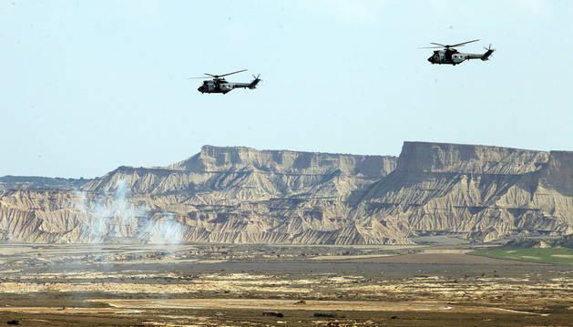 Defensa prevé un cambio en los procedimientos de tiro en Bardenas
