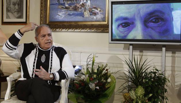 José Luis Moreno, tras el asalto que sufrió en su domicilio en 2007.