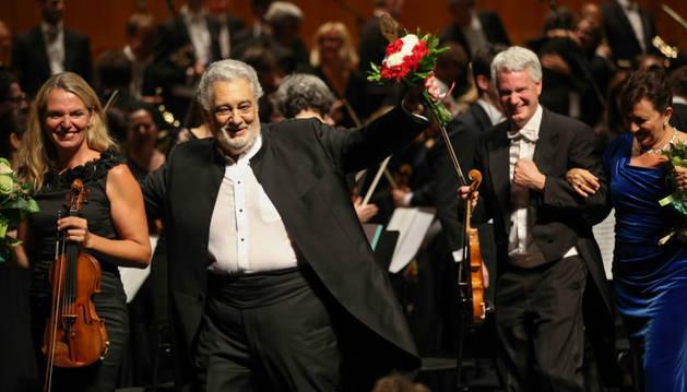 El tenor español Placido Domingo en Salzburgo.