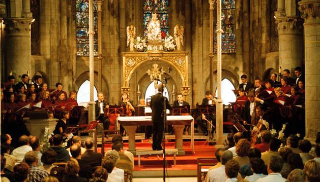 Quincena Musical Donostiarra en Roncesvalles.