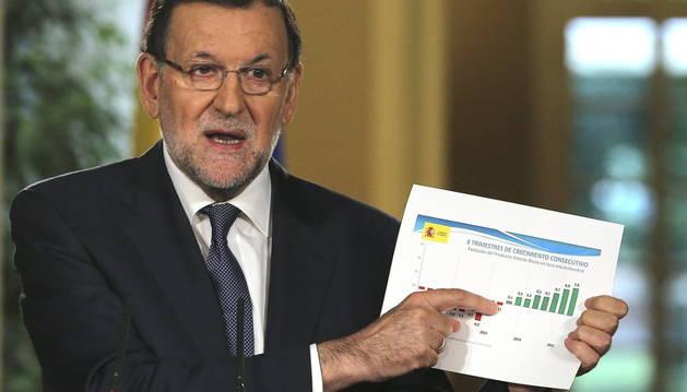 El presidente del Gobierno, Mariano Rajoy, hace balance de la legislatura.
