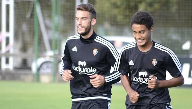 Primer entrenamiento de Milic con Osasuna