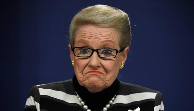 Bronwyn Bishop, expresidenta del Parlamento australiano.