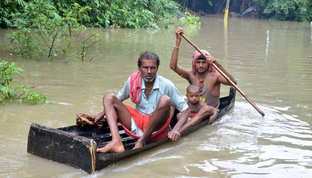 Una de las consecuencias de las inundaciones en la India.