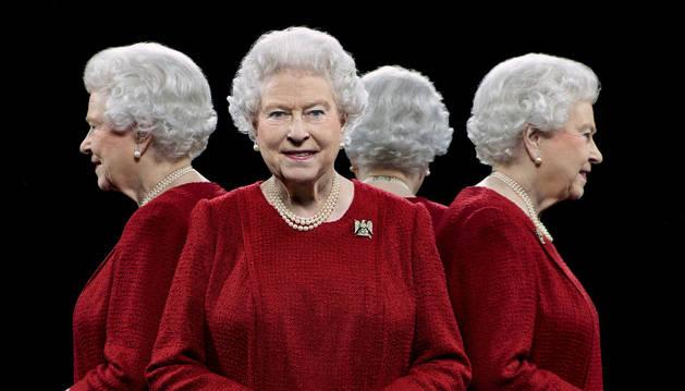 El retrato de Isabel II.