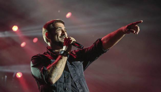 Orozco, durante el concierto en el Festival de Cap Roig.