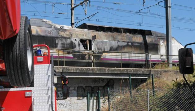 El AVE español que ha sufrido el incendio de la locomotora
