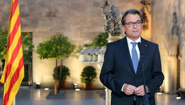Artur Mas, tras firmar el decreto de convocatoria de elecciones.