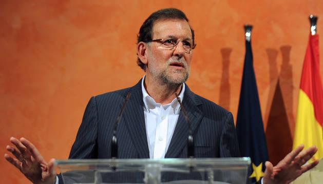 Rajoy, durante su intervención este martes.