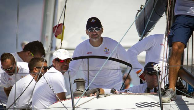 Felipe VI, en la competición de vela.
