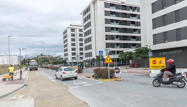 Aspecto de la avenida de Erripagaña, en una imagen tomada el martes.