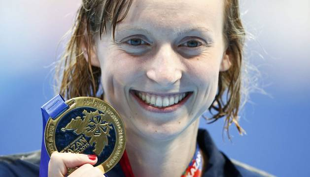 Ledecky, con su último oro.