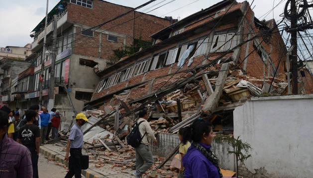 Consecuencias del terremoto que registró Nepal en abril.