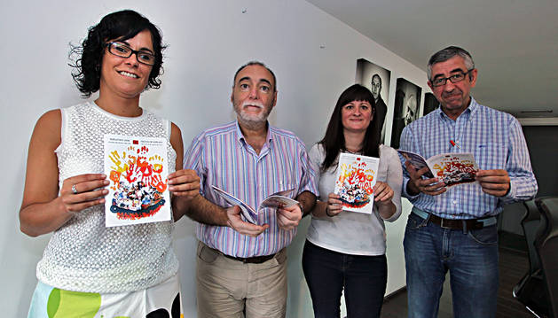 Berta Arizkun, Txema Noval, Joana Eguillor e Iñaki Gordejuela.