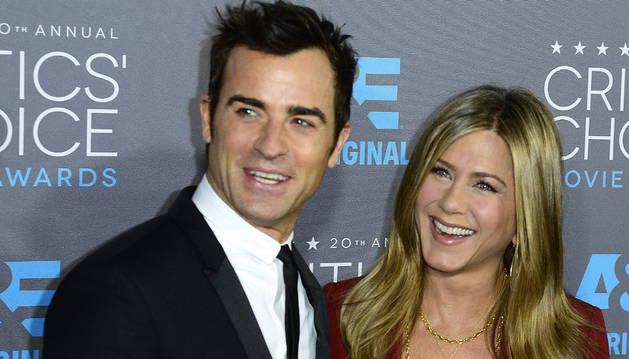 La actriz estadounidense Jennifer Aniston y el actor y guionista Justin Theroux.