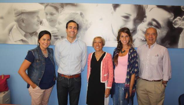 Cristina Sanz, Pablo Zalba, Ana Cía, Irene Latorre y José Cruz.