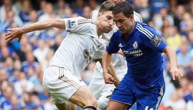 Chelsea vs. Swansea en la Premier League.