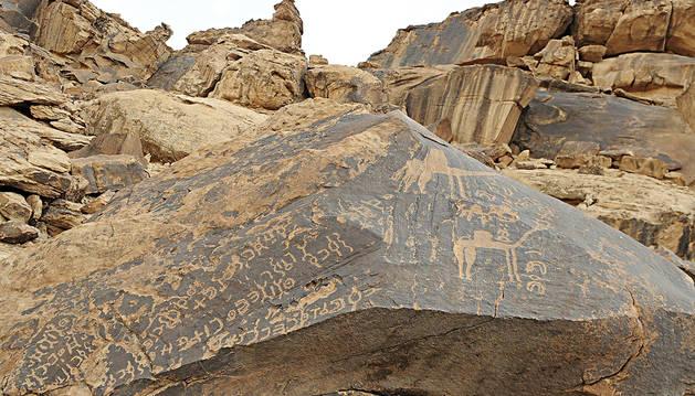 La vida de los antiguos árabes grabada en roca