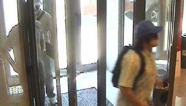 Imagen de la cámara de seguridad de los ladrones.