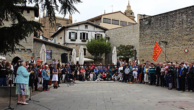Homenaje de Pamplona a la defensa de Navarra en Roncesvalles