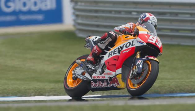 Marc Márquez en el Gran Premio de Indianápolis de MotoGP.