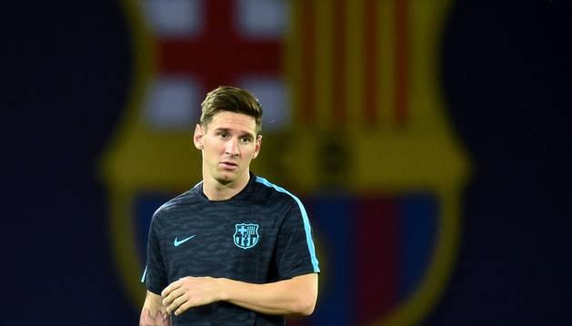 Messi, en Tblisi.