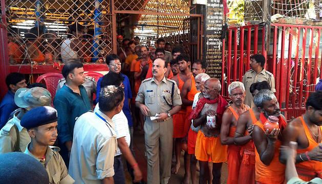 Diez muertos en una estampida durante un festival hindú en la India