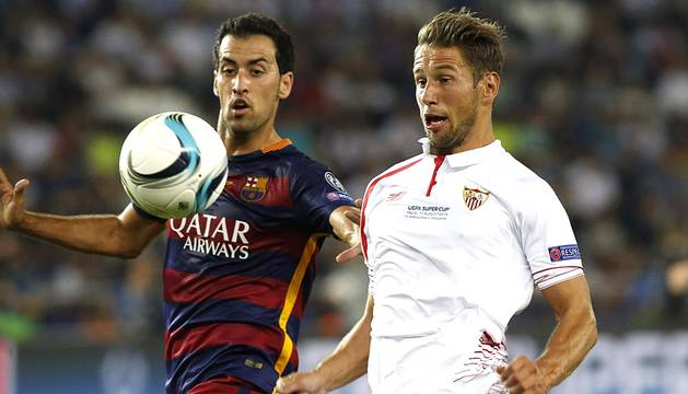 El FC Barcelona se ha proclamado campeón de la Supercopa de Europa tras imponerse al Sevilla FC (5-4)