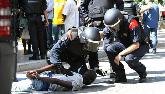 Disturbios en Salou