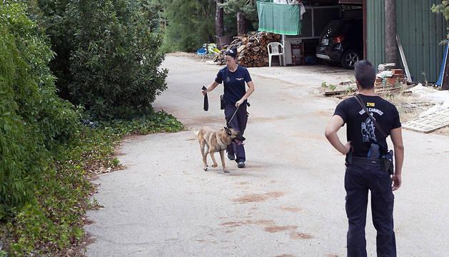 La unidad canina de la Policía Nacional ha registrado esta mañana una finca en Chillarón de Cuenca, propiedad de la familia de Sergio, exnovio de una de las dos chicas desaparecidas.