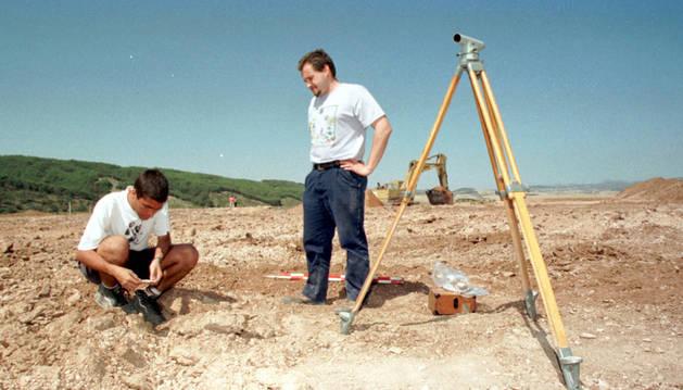 Excavaciones en el yacimiento de Los Cascajos.