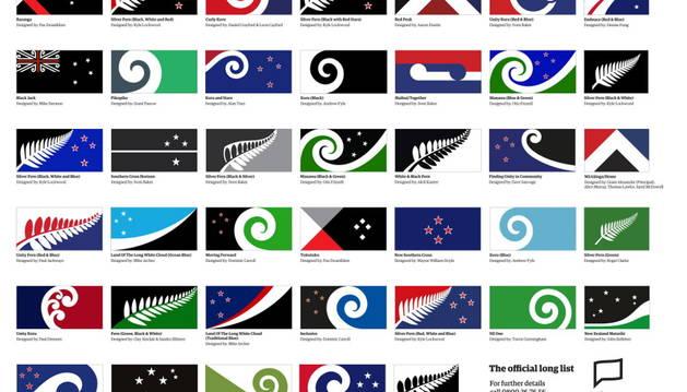 Los 40 nuevos diseños para la bandera de Nueva Zelanda.