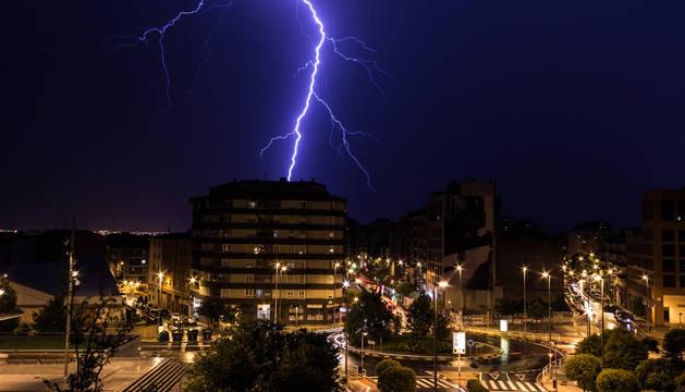 La tormenta de este martes descargó 312 rayos sobre la Comunidad foral