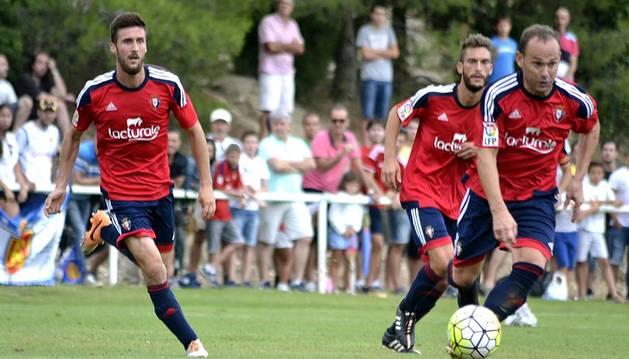 Amistoso entre Osasuna y Zaragoza jugado en Lerín (0-1).