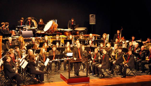 Un concierto de la banda de música de Calahorra.